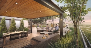 robin residences outdoor dining