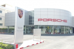the peak porsche showroom
