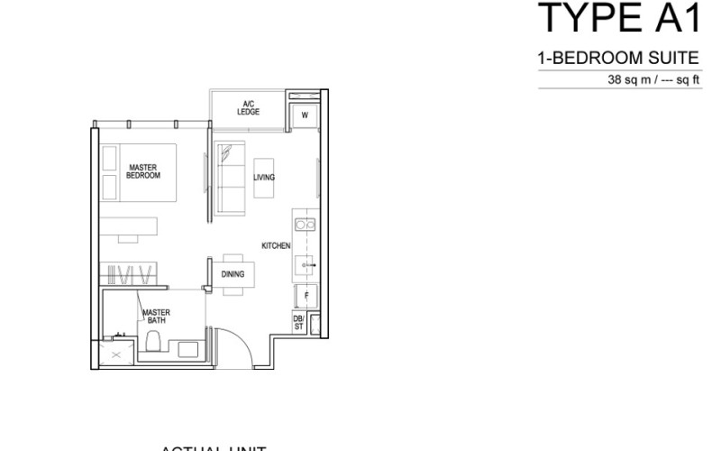 Sims Urban Oasis Floor Plan - 1 bedroom