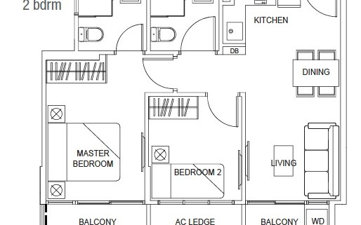 Hills TwoOne 2 bedroom