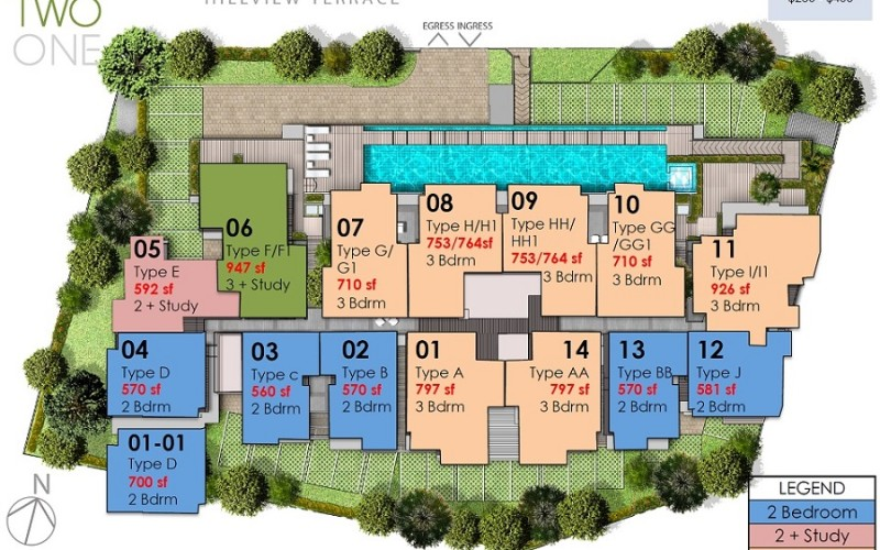 hills twoone site plan