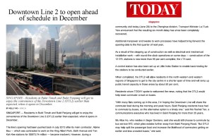 Downtown Line 2 to be operation in Dec 2015