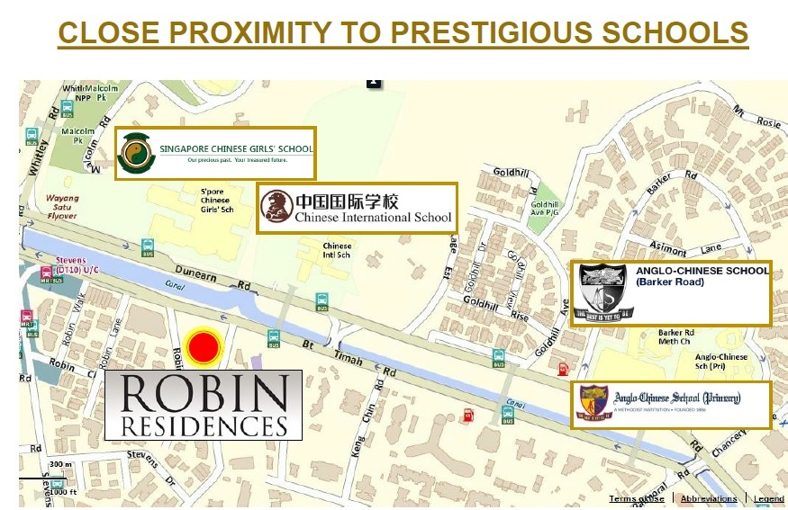robin residences location