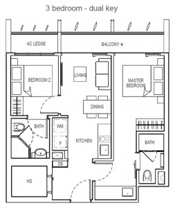 the rise @ oxley three bedroom dual key