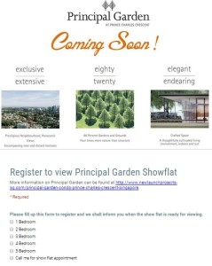 registration to update on principal garden price