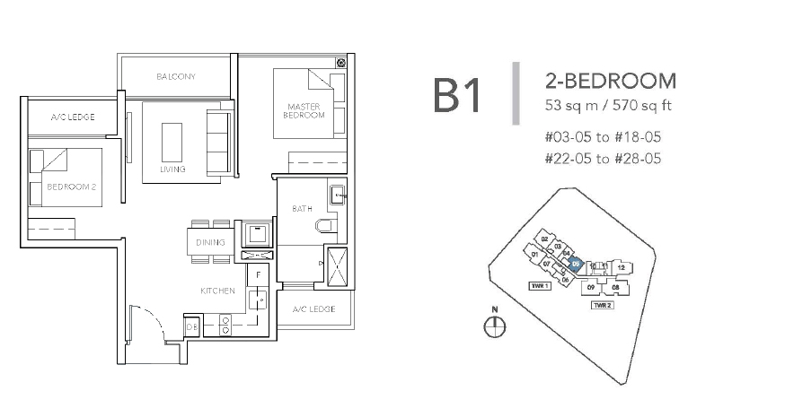 sturdee residences b1 floor plan