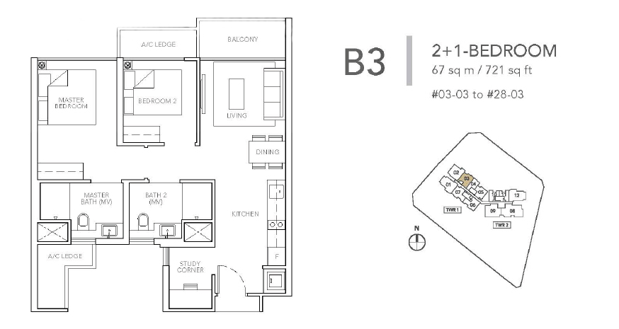 sturdee residences b3 floor plan