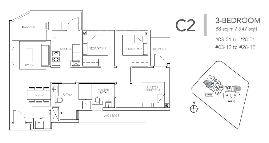 sturdee residences c2 floor plan