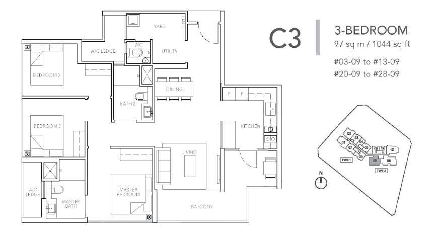sturdee residences c3 floor plan