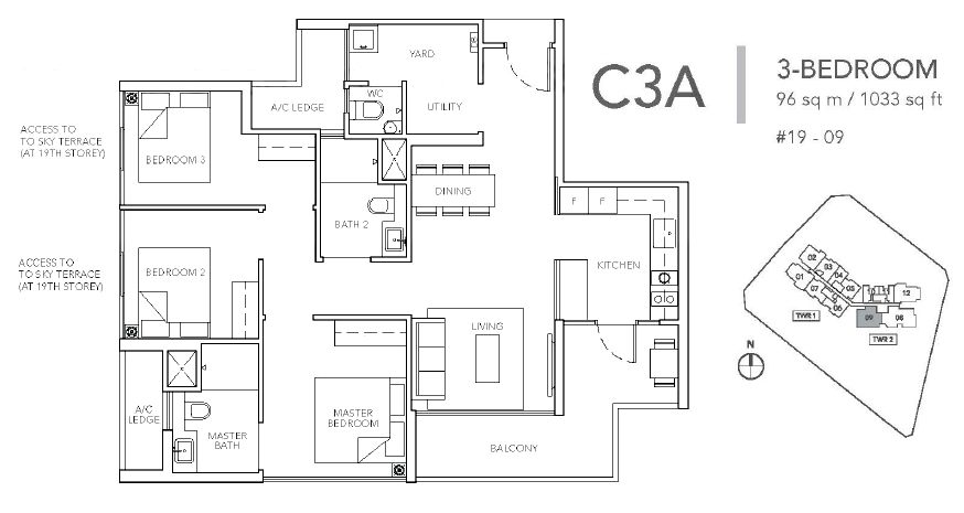 sturdee residences c3a floor plan