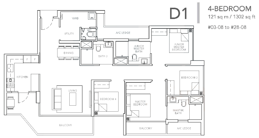 sturdee residences d1 floor plan