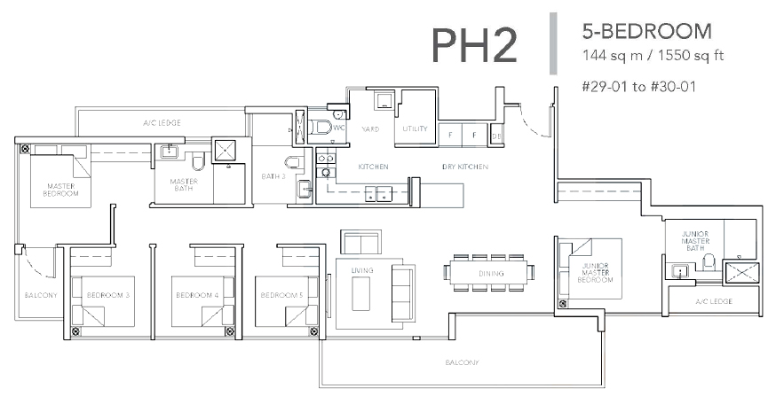 sturdee residences ph2 floor plan