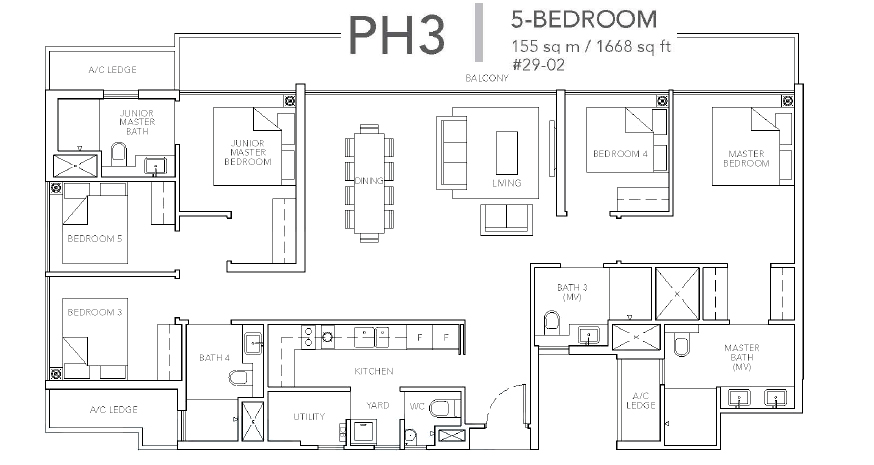 sturdee residences ph3#29 floor plan