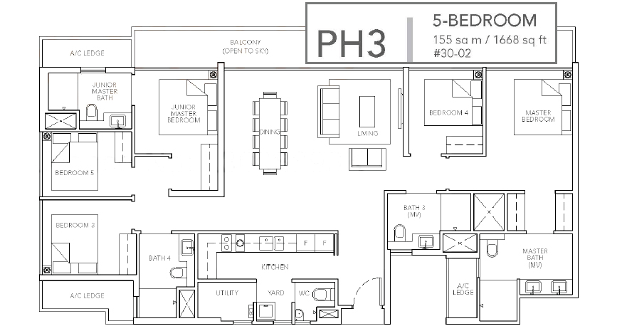 sturdee residences ph3#30 floor plan