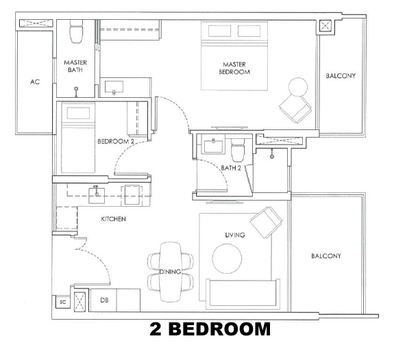 robin residences 2 bedroom