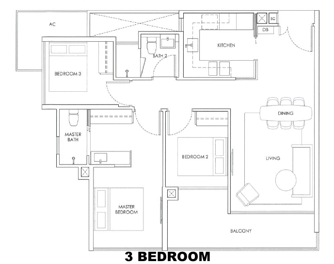 robin residences 3 bedroom