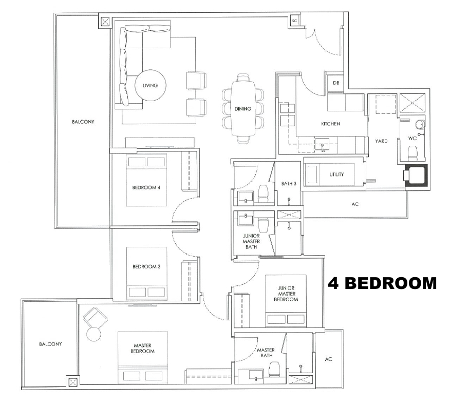 robin residences 4 bedroom