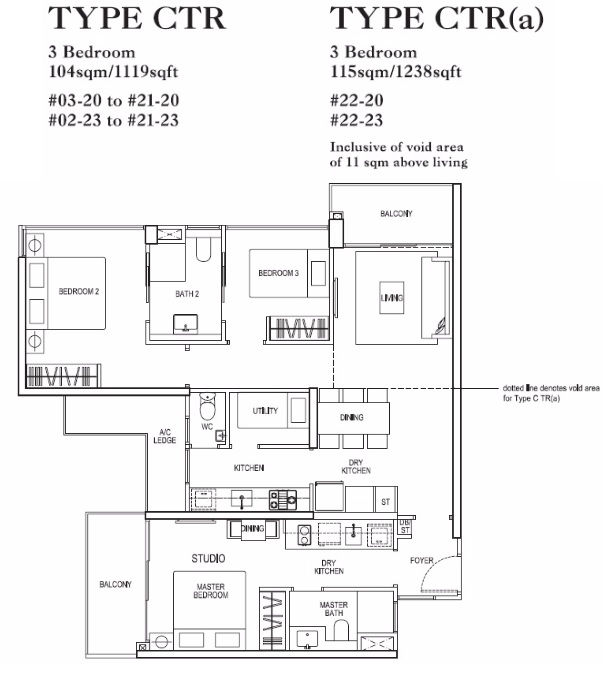 rivertrees residences 3 bedroom trio