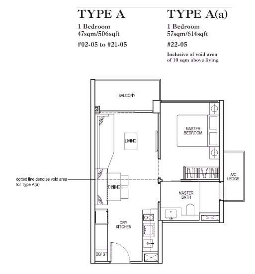 rivertrees residences one bedroom floorplan
