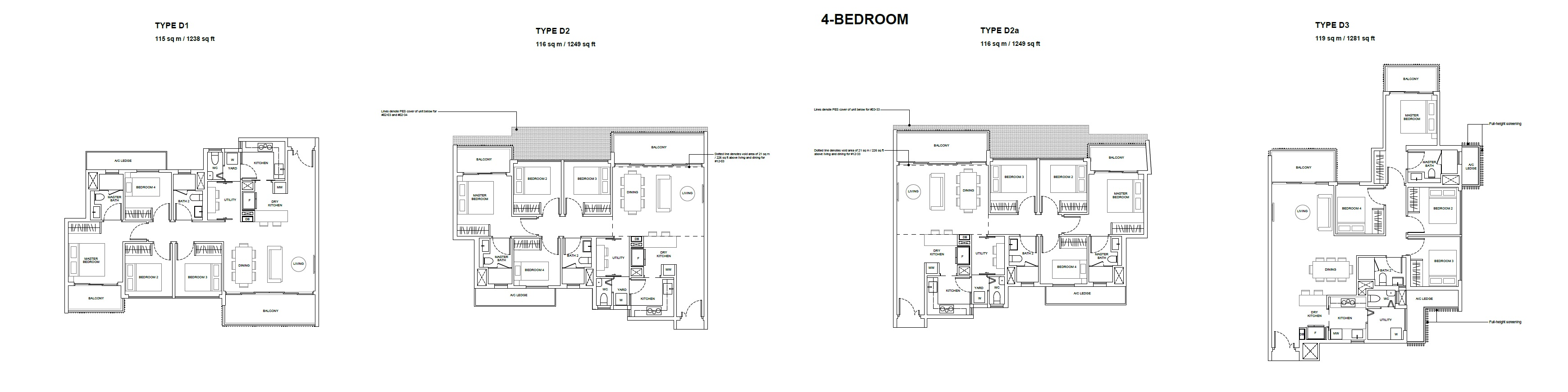 forest woods floor plan for four bedroom