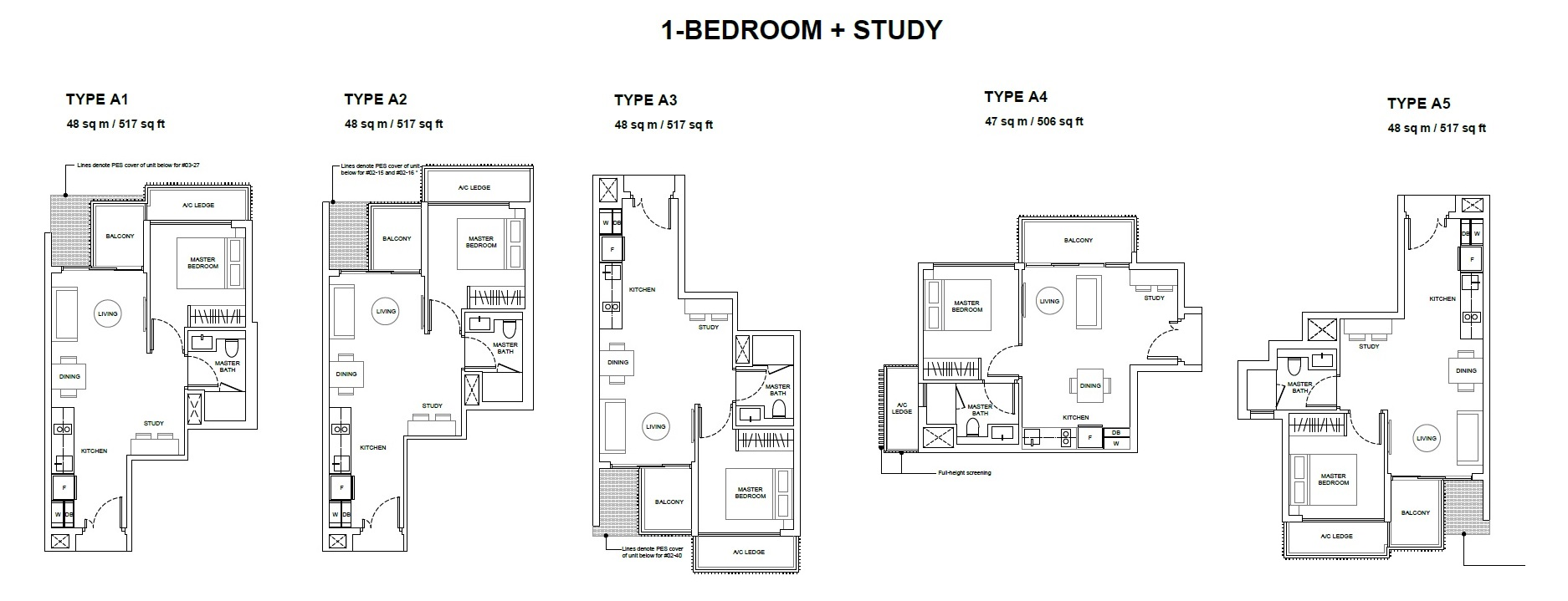 Forest Woods Floor Plan for One Bedroom
